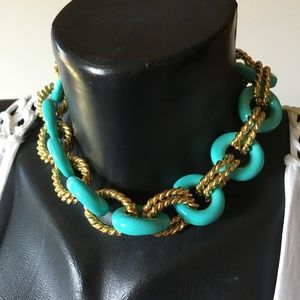 Kenneth Jay Lane Chunky Chain Collar Necklace